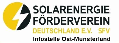 Solarenergie-Förderverein Deutschland e.V. (SFV) - Infostelle Ost-Münsterland Logo